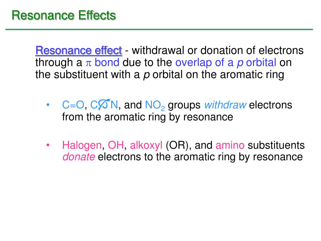 Resonance Effects