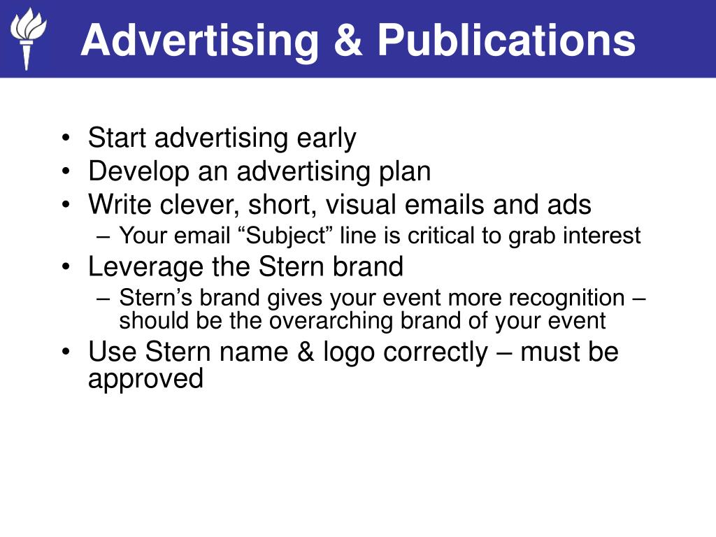 Advertising & Publications