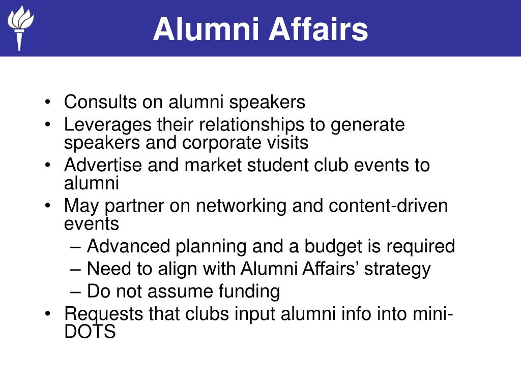 Alumni Affairs