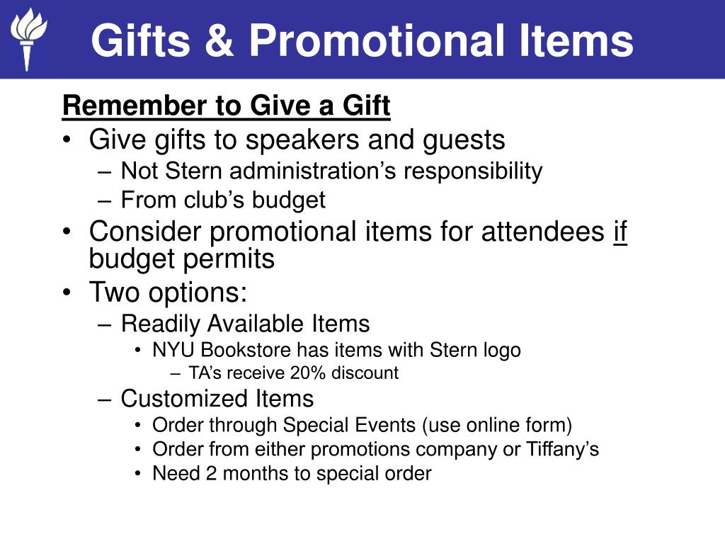 Gifts & Promotional Items