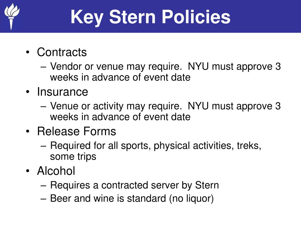 Key Stern Policies