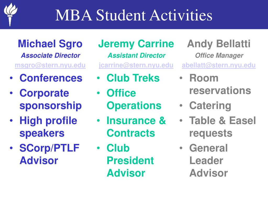 MBA Student Activities
