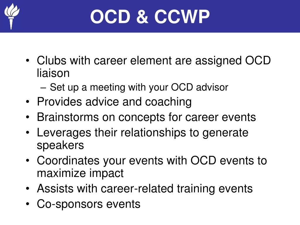 OCD & CCWP