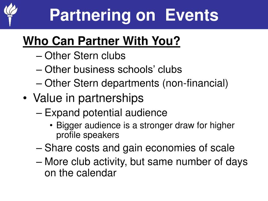 Partnering on  Events