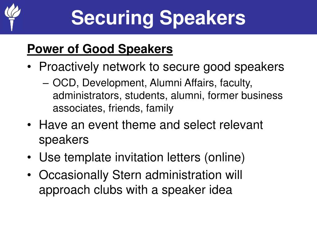 Securing Speakers