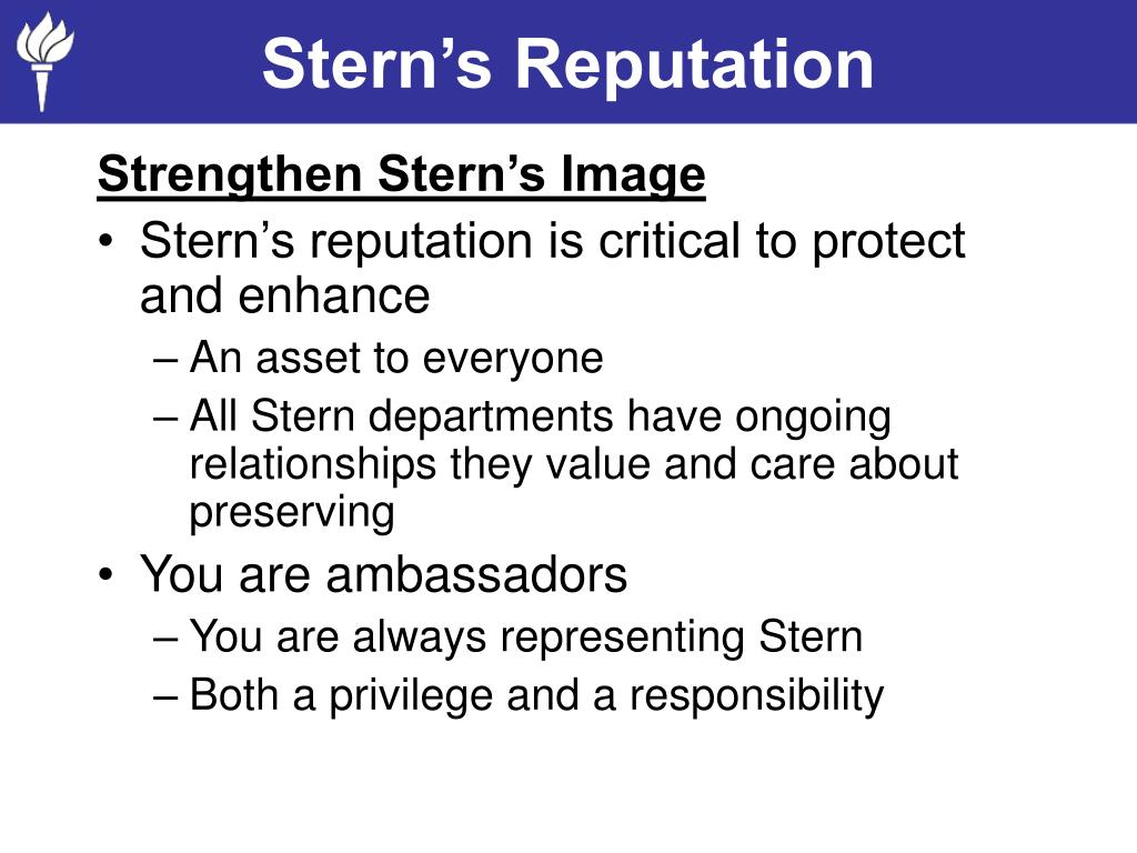 Stern's Reputation