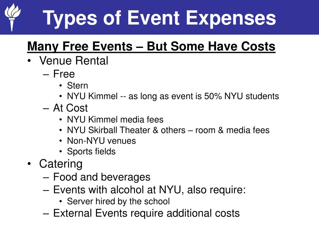 Types of Event Expenses