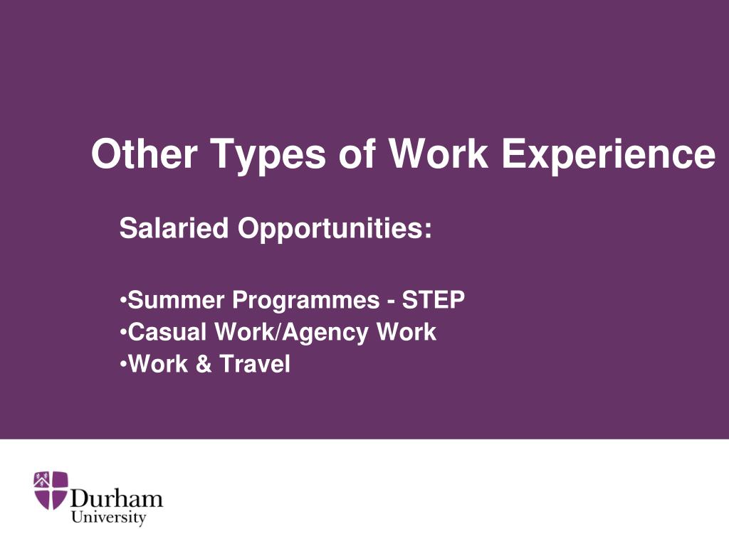 Other Types of Work Experience
