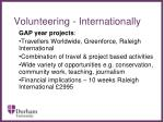 volunteering internationally