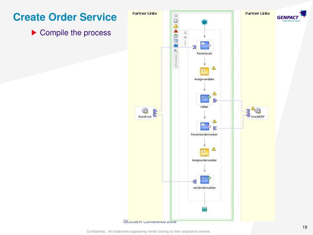 Create Order Service