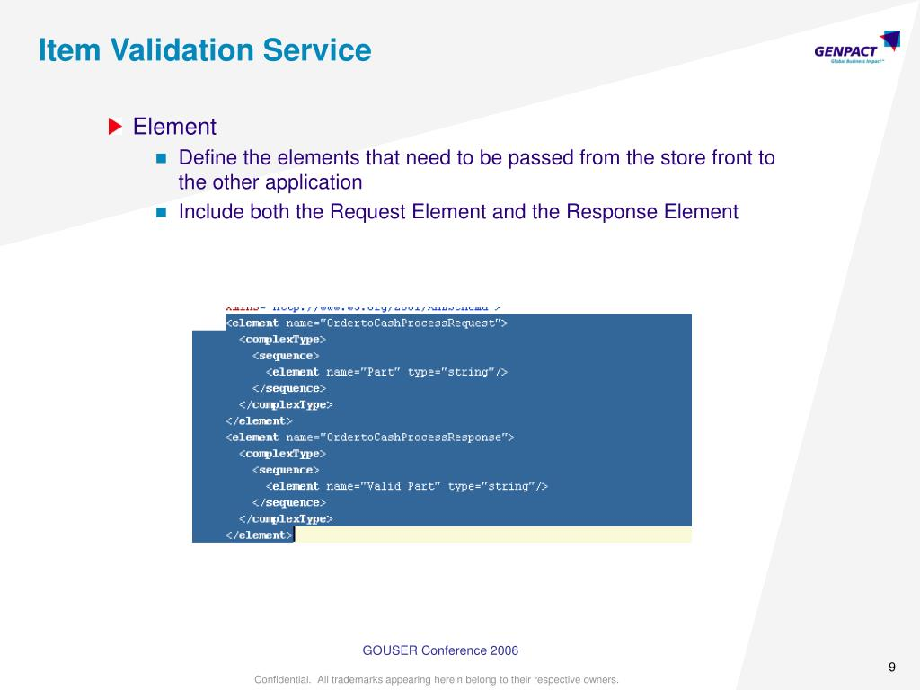 Item Validation Service