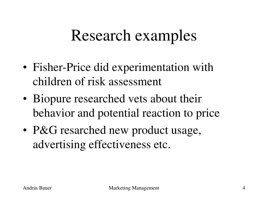 Research examples