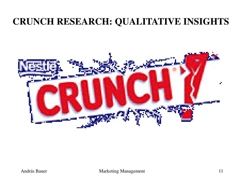 CRUNCH RESEARCH: QUALITATIVE INSIGHTS