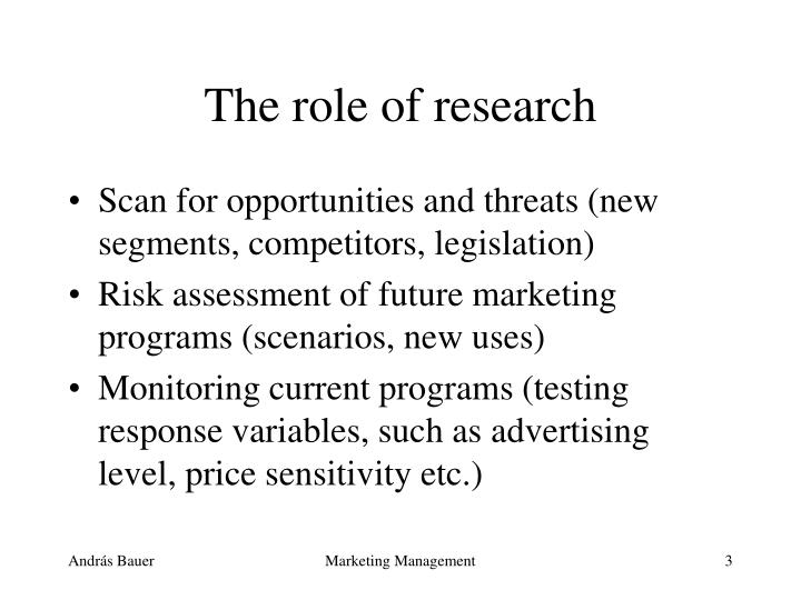 The role of research