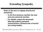 extending sympathy