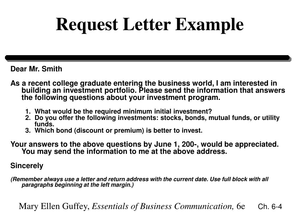 Request Letter Example