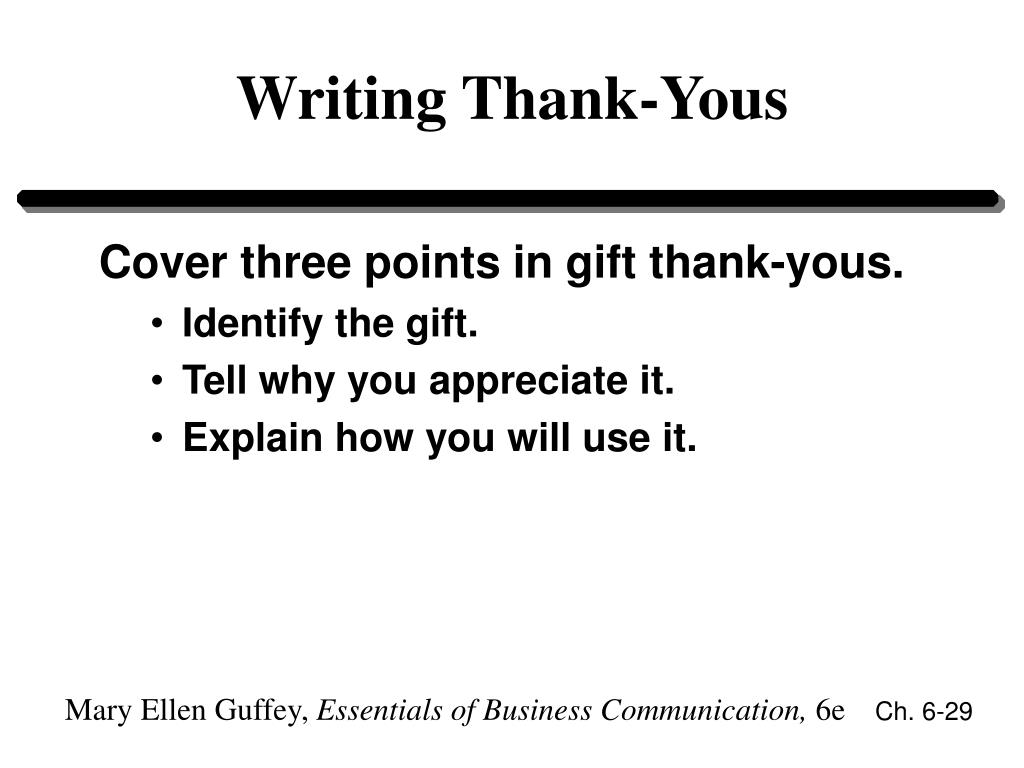 Writing Thank-Yous