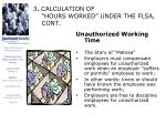 3 calculation of hours worked under the flsa cont