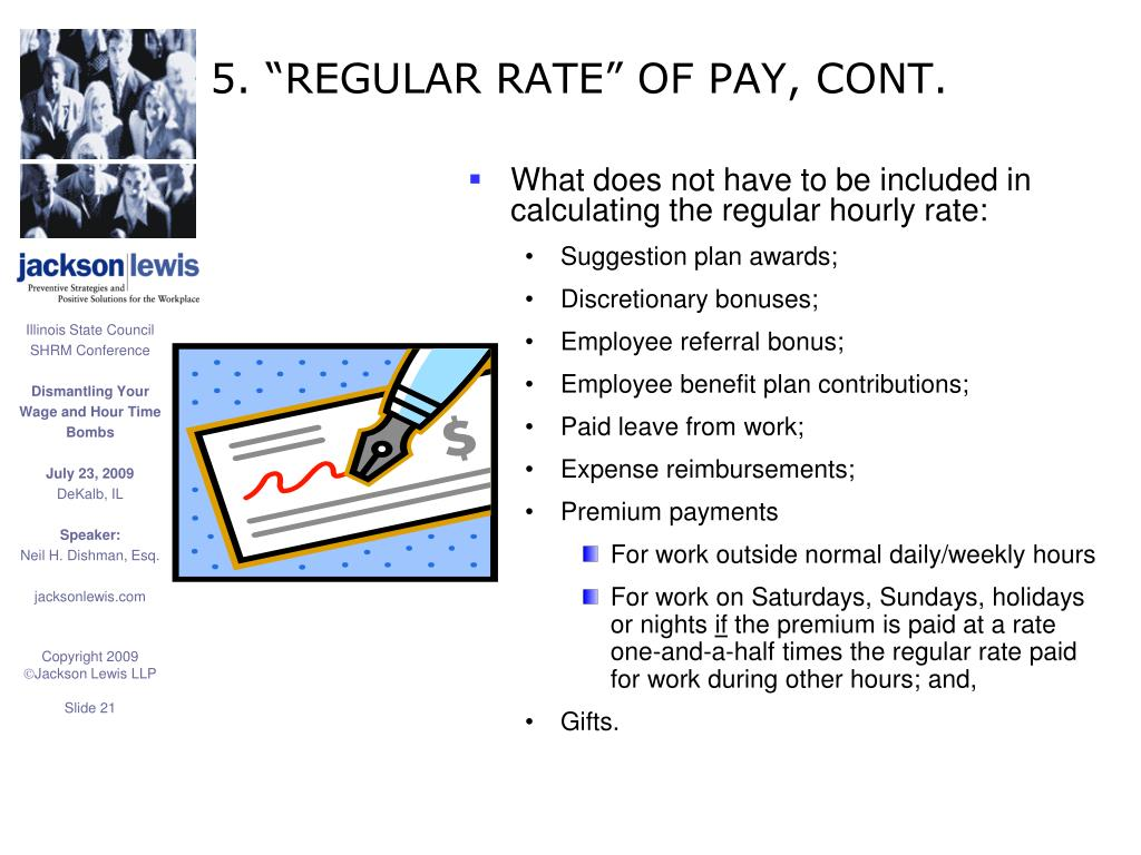 "5. ""REGULAR RATE"" OF PAY, CONT."