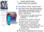 misclassifying employees as exempt