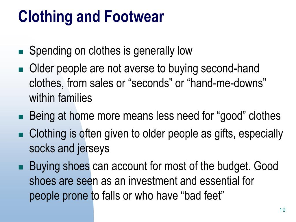 Clothing and Footwear