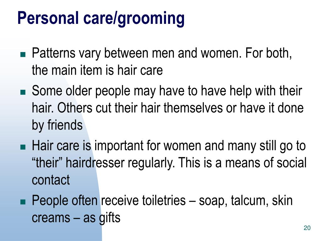 Personal care/grooming