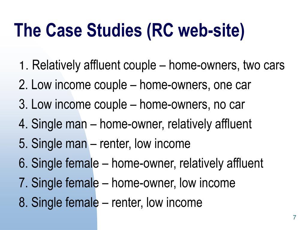 The Case Studies (RC web-site)