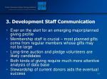 3 development staff communication