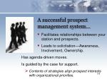 a successful prospect management system