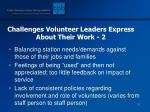 challenges volunteer leaders express about their work 2