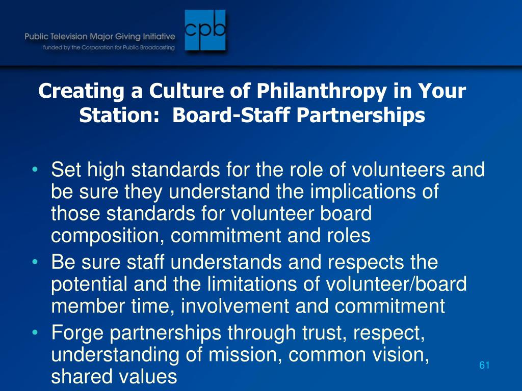 Creating a Culture of Philanthropy in Your Station:  Board-Staff Partnerships