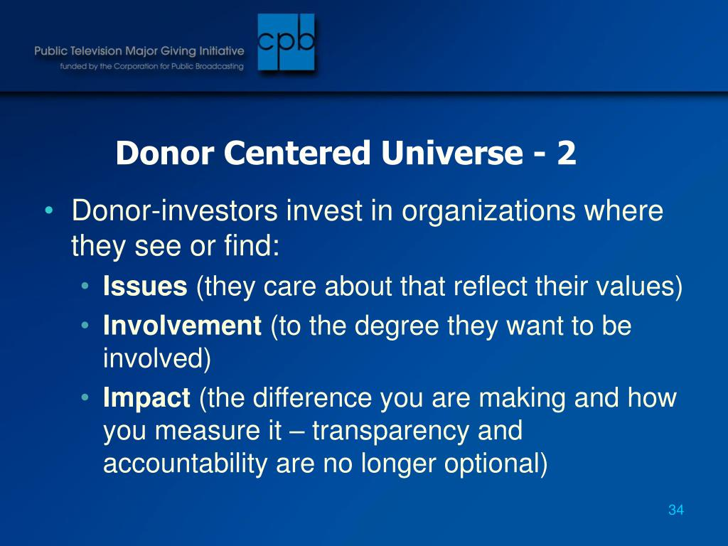 Donor Centered Universe - 2