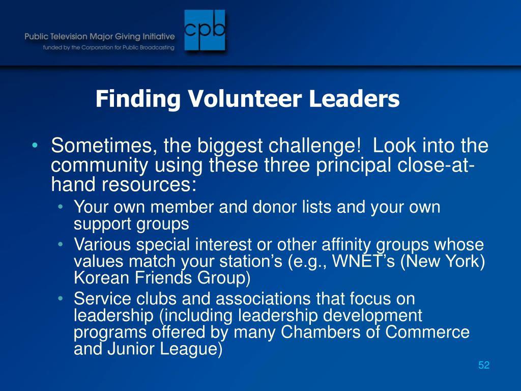 Finding Volunteer Leaders