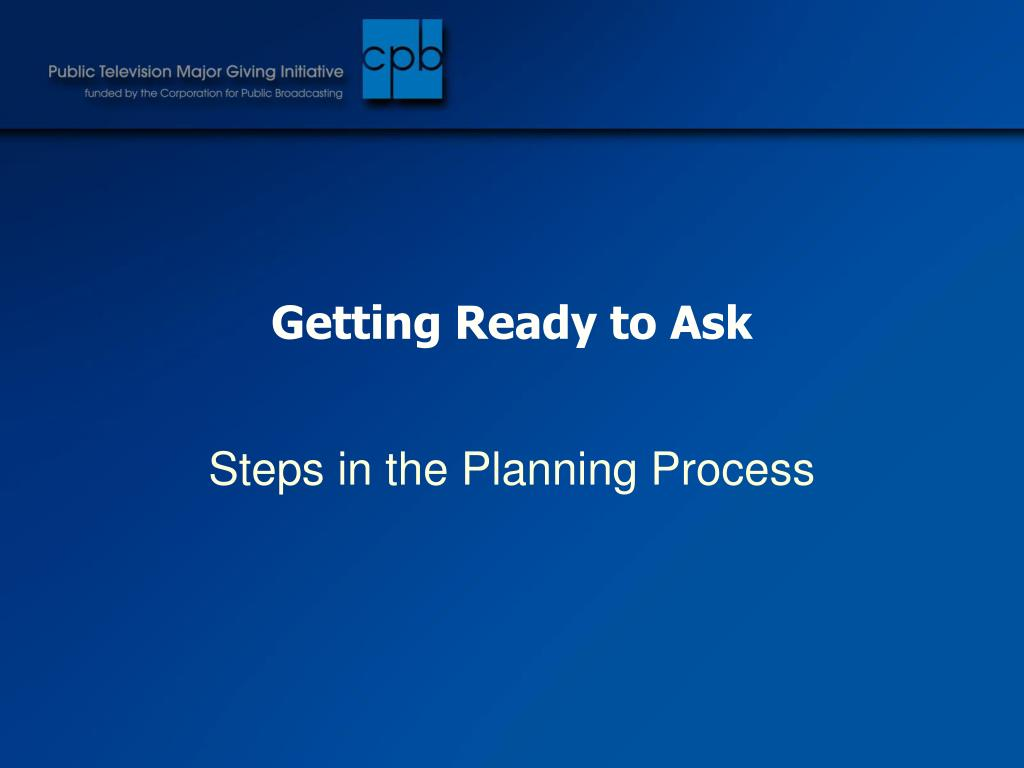 Getting Ready to Ask