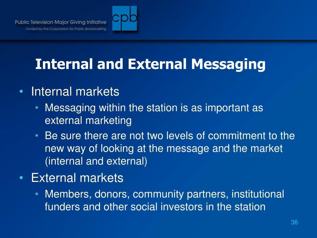 Internal and External Messaging