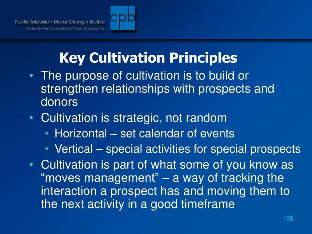 Key Cultivation Principles