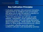 key cultivation principles128