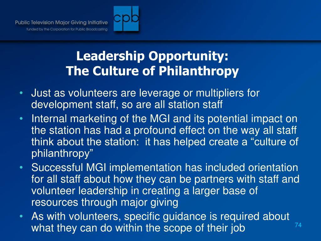 Leadership Opportunity:
