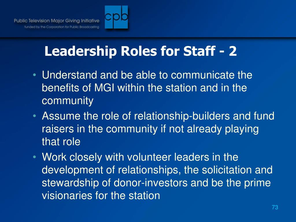 Leadership Roles for Staff - 2