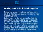 putting the curriculum all together188