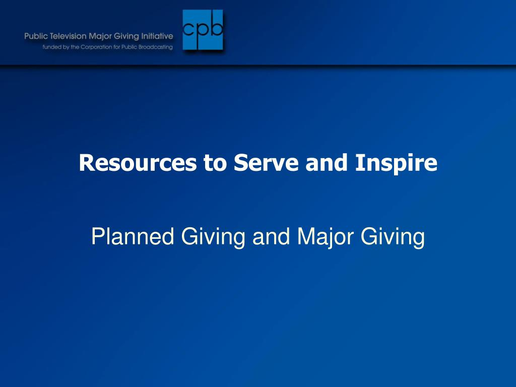 Resources to Serve and Inspire