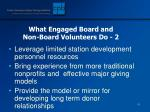what engaged board and non board volunteers do 2