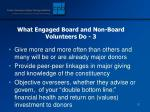 what engaged board and non board volunteers do 3