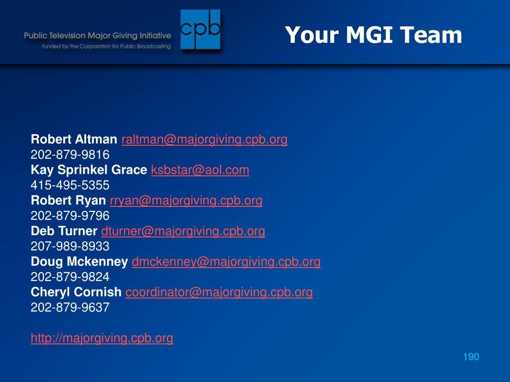 Your MGI Team