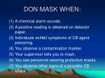 don mask when