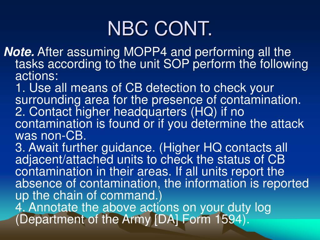 NBC CONT.