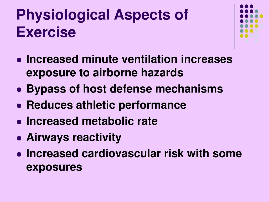 Physiological Aspects of Exercise