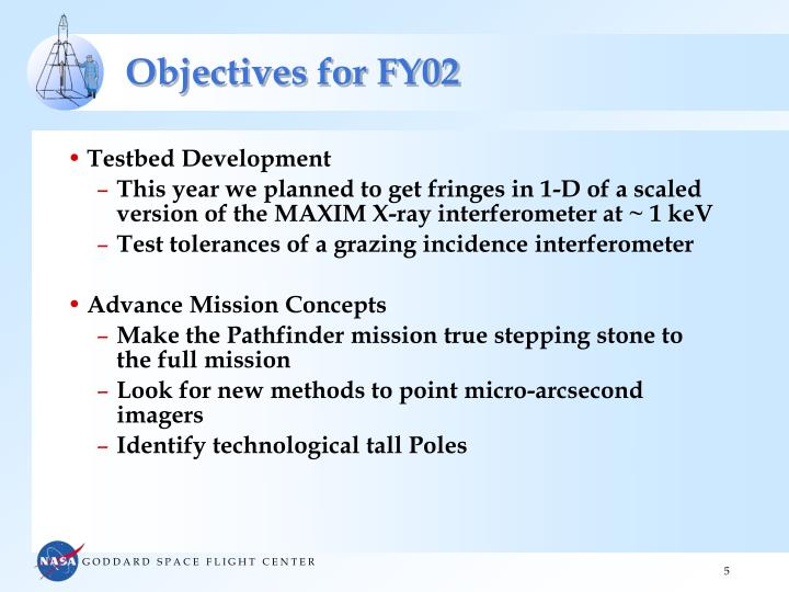 Objectives for FY02