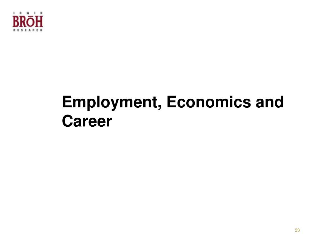 Employment, Economics and Career