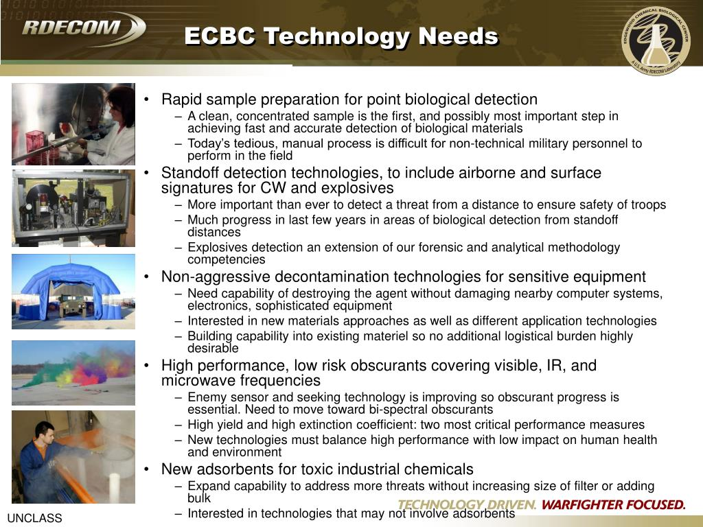ECBC Technology Needs